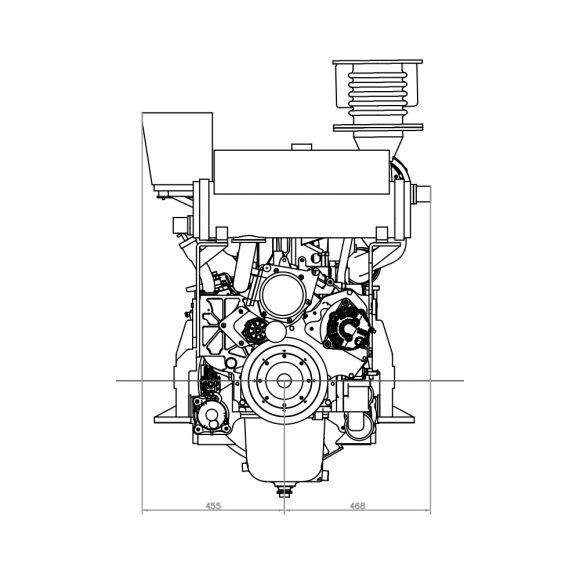 Motor-Marino-YTO-Motor-Marino-YTO-YM6S4WF-C320-frente