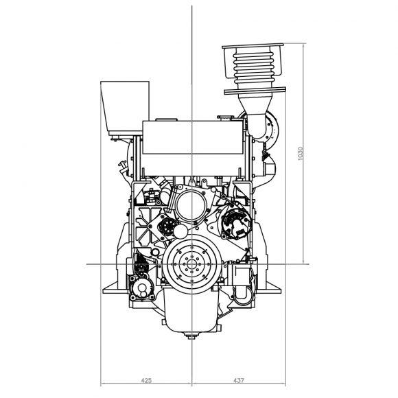 Motor-Marino-YTO-YM6S4W-C260-frente